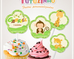 Topper cupcake Safari baby