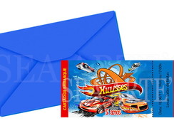 Convite Ingresso - Hot Wheels