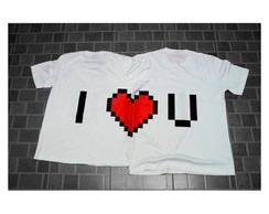 Camiseta Namorados - I love you