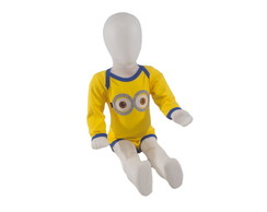 Body Bordado Minions Manga Longa