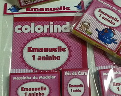 kit de colorir com massinha
