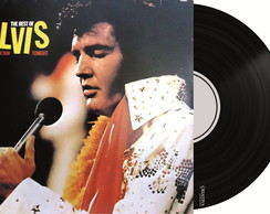 Capa de Disco no Azulejo - Elvis