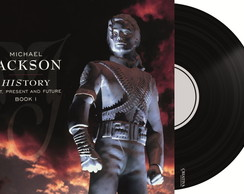 Capa de Disco no Azulejo - MJ