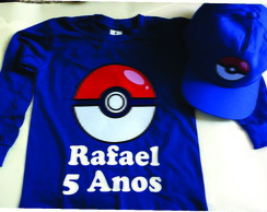 Camiseta e Boné do Pokemon