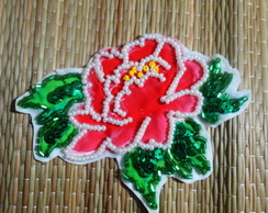 Patch flor lantejoulas