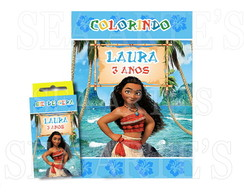 Kit Colorir - Moana Disney