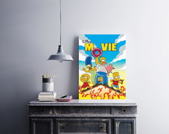 "Placa decorativa ""The Simpson.s Movie"""