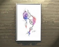 Poster A4 aquarela Dreamcatcher