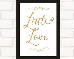 Poster com Moldura Little Love
