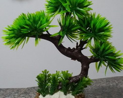 Bonsai Horta verde artificial