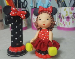 Topinho e vela Minnie