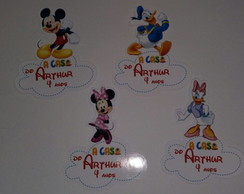 APLIQUE CASA DO MICKEY COM NOME