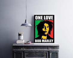 "Placa decorativa ""One Love - Bob Marley"""