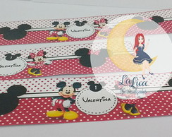 Rotulo Refrigerante Mickey e Minnie