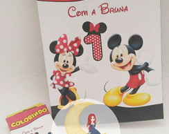 Kit Para Colorir Mickey e Minnie