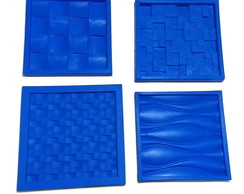 Kit 4 Moldes Silicone Placas Decorativas