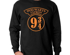 Camiseta Manga Longa Harry Potter Expresso 9 3/4