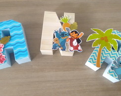 Letras Box 3D Lillo e Stitch