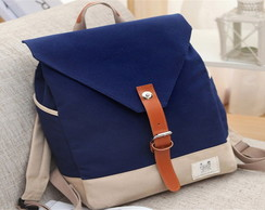 "Mochila Blue Navy Square Card ""G"""