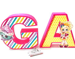 Letras 3D Shopkins