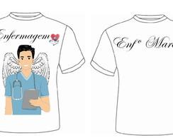 ... Camisetas Personalizada Enfermagem 57f3e29062c