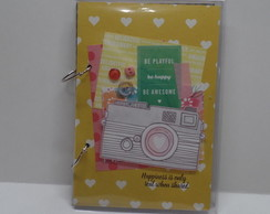 Caderno Argolado Decorado Scrap Awesome