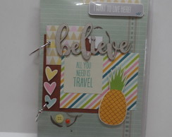 Caderno Argolado Decorado Scrap Believe