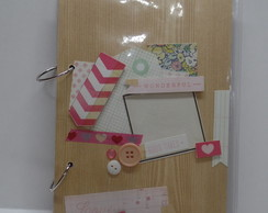Caderno Argolado Decorado Scrap Smile
