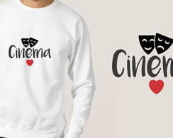 Blusa de moletom Cinema