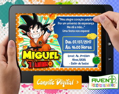 Convite Digital Dragon Ball Infantil