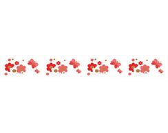 Faixa Decorativa Flor Delicada Verme 139 No Elo7 Decoraplus 96cfdb
