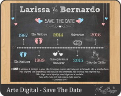 Arte Digital - Chalkboard Save The Date