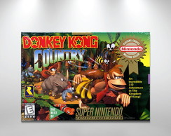 Placa Decorativa Donkey Kong Snes