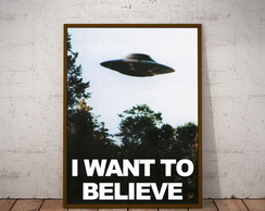 poster ufo i want to believe 30x40