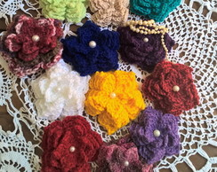 BROCHES FLOR DE CROCHE