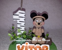 Mickey Safari Vela com Nome