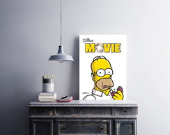 Placa decorativa MDF The Simpson.s Movie