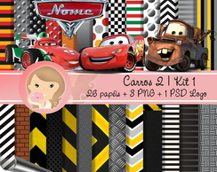 Kit Digital Scrapbook CARROS 2 (Kit 1)