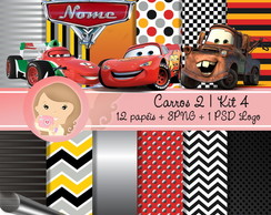 Kit Digital Scrapbook CARROS 2 (Kit 4)