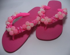 Chinelo 39/40 Decorado Pink