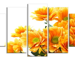 KIT QUADRO DECORATIVO FLORAL 05 PAINÉIS