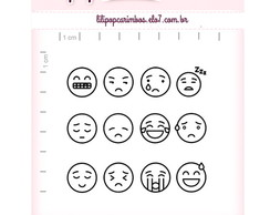 Kit de carimbos - kit Emoticons 1