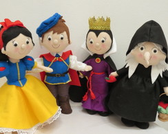 Kit Branca de Neve - 4 PERSONAGENS