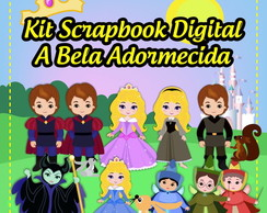 Kit Scrapbook Digital Bela Adormecida