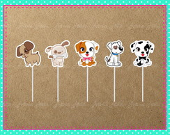 Topper Doces Pet Shop / Cachorrinhos