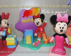 kit Minnie isopor com fibra Seminovo