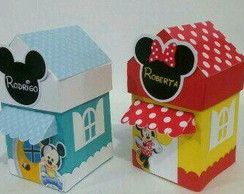 Silhouette Casinha Mickey e Minnie