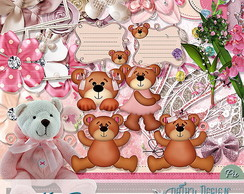 Kit Scrapbook Digital Bears - Ursos