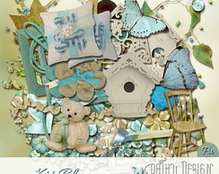 Kit Scrapbook Blue
