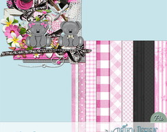 Kit Scrapbook Digital Giovana